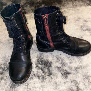 Zadig & Voltaire Black Combat Boots